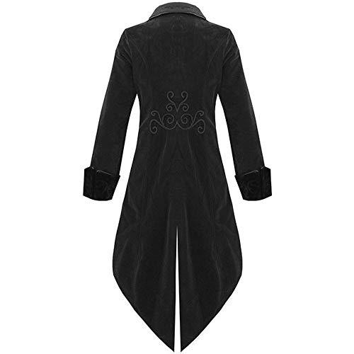 S Fashion Mens Tailcoat Jacket Goth Steampunk Uniform Costume Praty Outwear Retro Court Coat ()