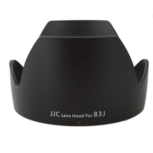 JJC LH-83J Professional Replacement Lens Hood EW-83J For Canon EF-S 17-55mm 2.8 IS USM Lens Black