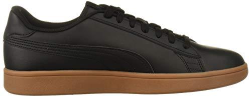 PUMA Smash Sneaker, Black-Gum, 10.5 M US