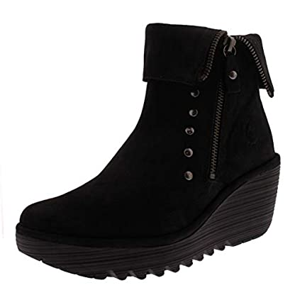 Womens Fly London Yemi Cupido Leather Work Winter Wedge Heel Ankle Boots 1