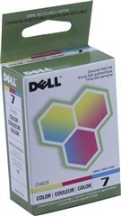Dell DH829, 310-8375 (Series 7) Color Standard Capacity OEM Genuine Inkjet/Ink Cartridge - Retail