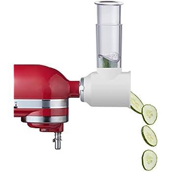 Amazon com: KitchenAid RVSA Slicer & Shredder Attachment: Mixer