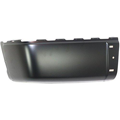 Bumper End for Chevrolet Silverado Sierra 07-14 Rear Black Face Bar Left Side Steel ()