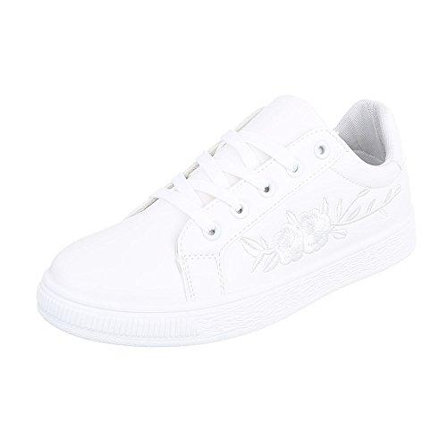 Ital-Design - Zapatillas de casa Mujer Weiß 6732-Y