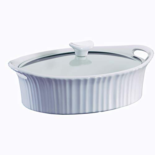 CorningWare French White 2.5-quart Oval Casserole with Glass ()