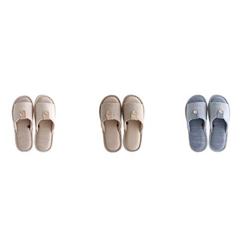 44 Morbido Fondo E 43 Pattini Cotone Fibbia Tingting Ciabatte Dimensioni Lino Gray Scarpe colore In Blu Pantofole Con Bottoni Pantofola UY7qPxw