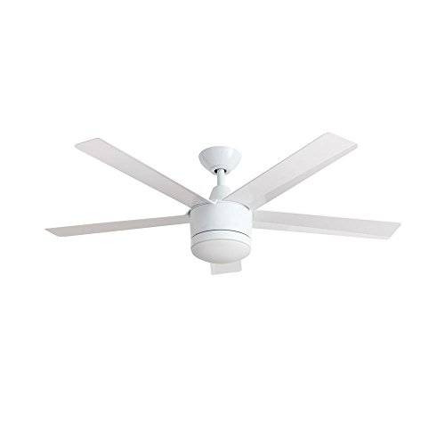 Home Decorators SW1422WH Merwry 52 Integrated Led Indoor White Ceiling Fan