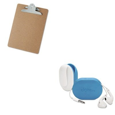 KITPRBFXW37MCCUNV40304 - Value Kit - Paris Business Products Dotz Flex Earbud Wrap (PRBFXW37MCC) and Universal 40304 Letter Size Clipboards (UNV40304)