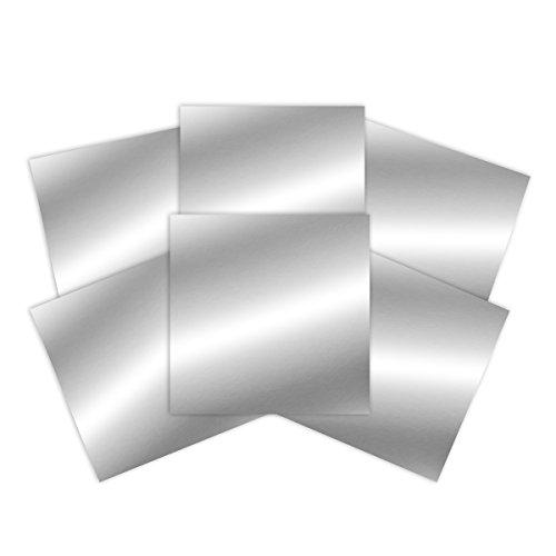 Spellbinders PLP-002 Platinum Pack 2 6 in X 6 in Silver Craft Metal Sheets