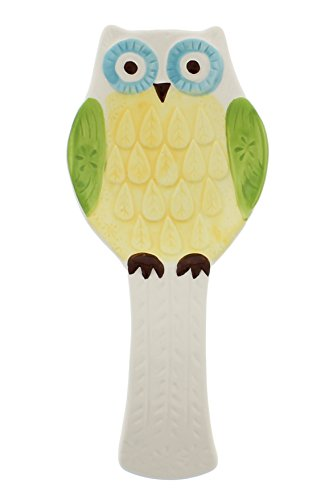 Boston Warehouse Spoon Rest with Floral Owl Design
