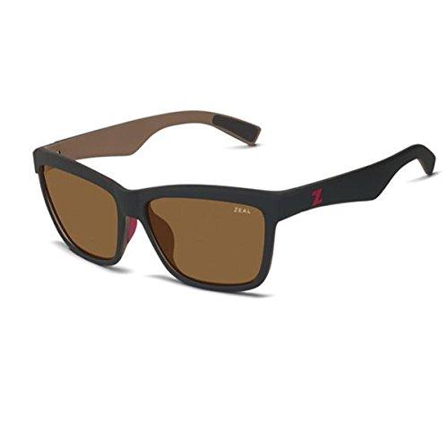 Zeal Optics Unisex Kennedy Black Coffee W/Copper Polarized Lens - Sunglasses Zeal