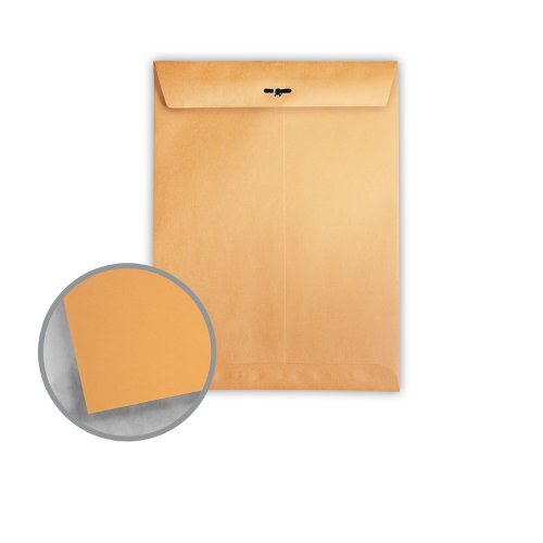 Printmaster Brown Kraft Envelopes - No. 110 Clasp (12 x 15 1/2) 28 lb Writing 500 per Carton by National Envelope Printmaster