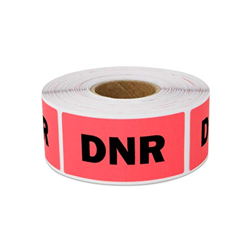 300 Labels - DNR Stickers Veterinary Labels for Pet Veterinary Practices Medical Containers (2 x 1 Inch - 1 Roll)]()