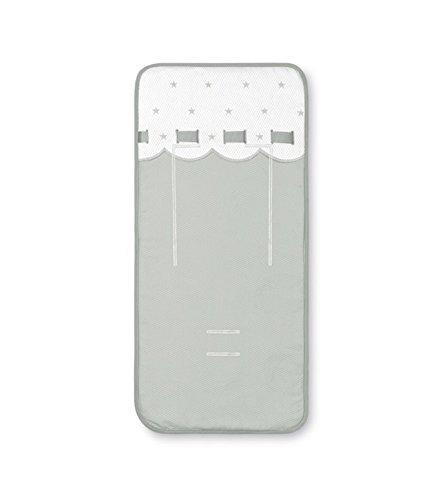 Bimbi Class - Colchoneta recta, 38 x 83 cm, blanco y azul Coimasa
