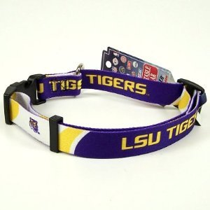 LSU Tigers Small Adjustable Pet Dog Collar (Small)