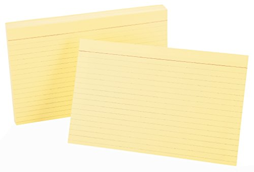 - Oxford Ruled Color Index Cards, 5