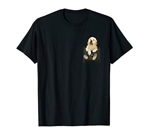 - Golden Retriever In Pocket Puppy T Shirt