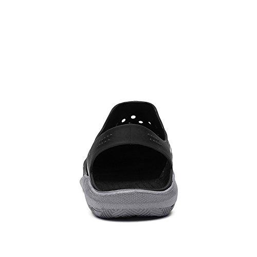 Hombre Aire Mulas Hueco On Pequeño Slip Black al Plano Libre Gray Sandalias Tacón Vamp qqd4rxvcwA