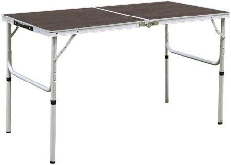 Mesa de picnic de aluminio 120 ~ 60 cm plegable moderno marrón ...