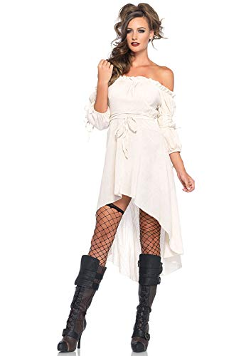 Leg Avenue Women's High Low Peasant Dress,