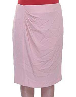 Calvin Klein Womens Crepe Ruched Pencil Skirt Pink Size 0