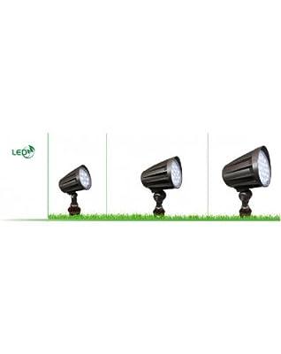 Westgate Lighting LED 12V Outdoor Landscape Garden Bullet Flood Lights - Path Walkway Lawn Spotlights - Wire/Spike Accessories Included - IP67 Waterproof - High Lumen - UL/DLC Listed