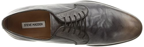 Steve Madden Mens Abbot Oxford Black Leather