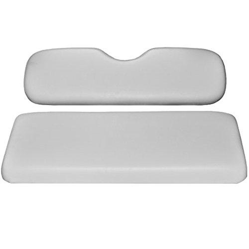 Madjax Rear Seat Cushion Set (WHITE Color) - Will match Club Car Precedent, DS, and EZ-GO TXT