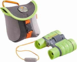 HABA Terra Kids Binoculars - Appropriate for Children & Scouts - Hiking, Camping, Fishing, Ball games - 4x30 Magnification with Compact Case (Terra Lens)