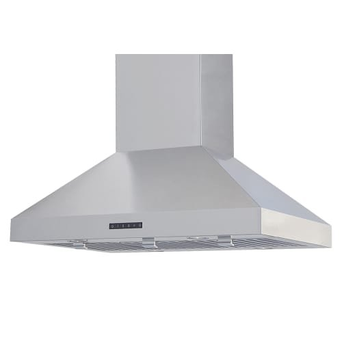 Windster RA-7642 570 CFM 42 Inch Wide Stainless Steel Island Range Hood with LED, Stainless Steel