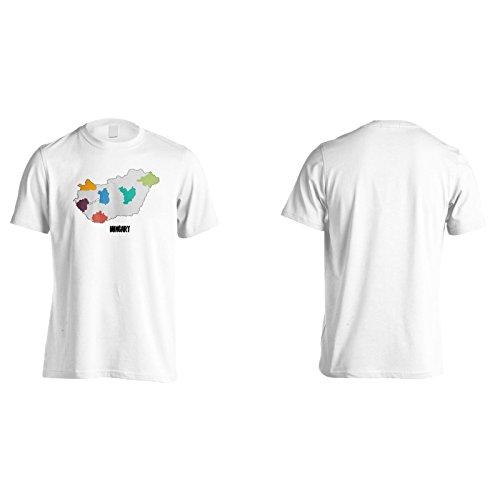 Neue Schöne Karte Ungarn Kunst Herren T-Shirt m295m