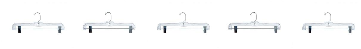 NAHANCO 600RC Heavy Weight Skirt/Slack Hanger Metal Clips, 14'', Clear (Pack of 100) (5)