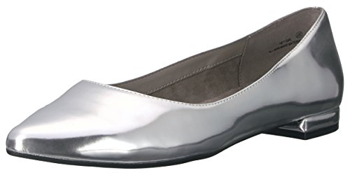Women's Hey Metallic Ballet Flat Aerosoles Girl Silver 6BxvdUqZUn