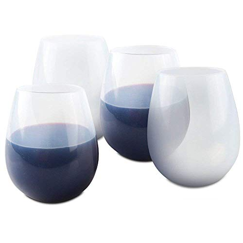 Cuencos de vajilla 2/8 Silicone Wine Glasses Beer Whiskey Cup Durable Irrompible Camping BBQ Beach (4PCS) - Perfecto para...