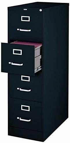 25 Deep Commercial 4 Drawer Letter Size High Side Vertical File Cabinet Color, 4-Drawer, Black