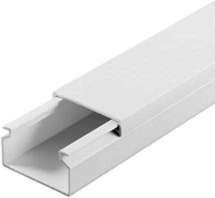 wei/ß SCOS Smartcosat SCOSKK81 20 m Kabelkanal L x B x H 2000 x 25 x 16 mm, PVC, Kabelleiste, Schraubbar