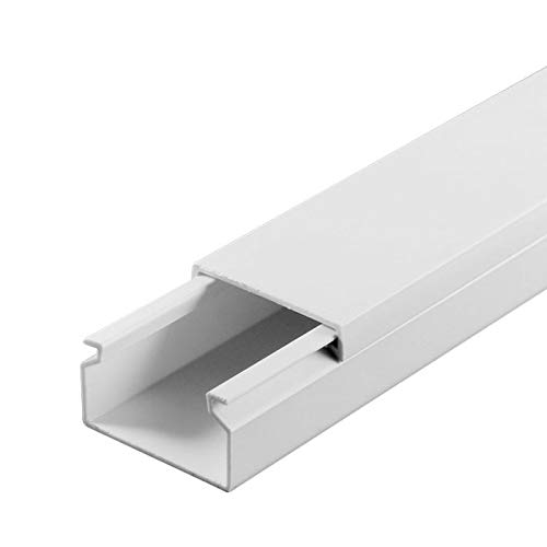 SCOS Smartcosat SCOSKK81 20 m Kabelkanal Kabelkanal Kabelkanal (L x B x H 2000 x 25 x 16 mm, PVC, Kabelleiste, Schraubbar) weiß B07HZ83B65 Kabelkanle für Wandleisten ein guter Ruf in der Welt afb464