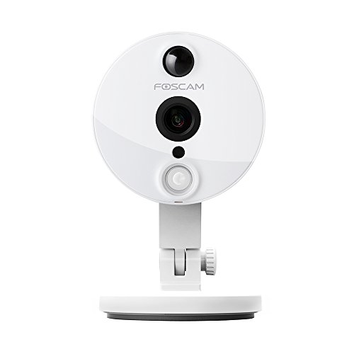 Foscam C2 HD 1080P WiFi Security IP Camera with iOS/Android App, Super Wide 120° Viewing Angle, Night Vision Up to 26ft, PIR Motion Detection, and More (White) (Foscam C1 Hd Wireless Ip Security Camera)