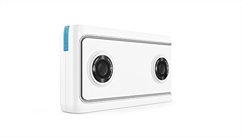 Lenovo Mirage Camera with Daydream, VR-Ready Photo and Video Camera, Integration with YouTube and Google Photos, Smartphone Compatibility, Moonlight White