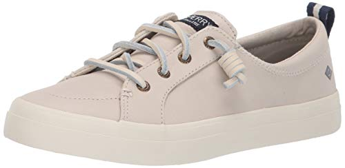(SPERRY Women's Crest Vibe Washable Leather Sneaker, Ivory, 090 M US)