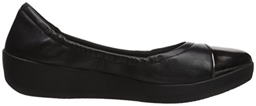 Ballet Flat Women's FitFlop Ballerinas Toe Mirror Black Superbendy wZPqRqYX