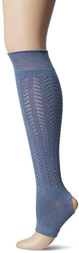 Yummie Women's to and from Legwarmer, Denim/Folkstone Grey, 9/11 (fits Shoe Sizes 4-10) by Yummie