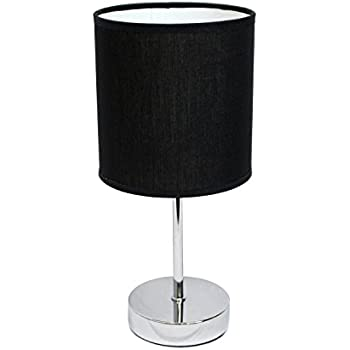 Simple designs lt2007 blk chrome mini basic table lamp with fabric simple designs lt2007 blk chrome mini basic table lamp with fabric shade black mozeypictures Gallery