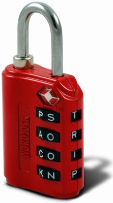 Wordlock Inc LL-206-RD Red Luggage Lock by Wordlock Inc