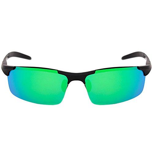 BLACK MAMUT Deportes Lentes de sol deportivos para ciclista cristal polarizado  protección solar UV400 (verde 57da6a2e09ad