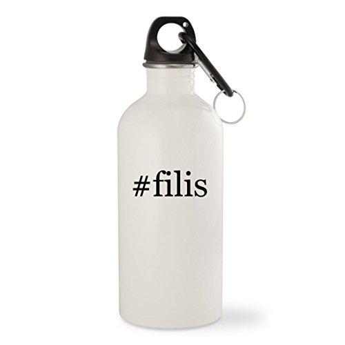 The Hobbit Kili Costume (#filis - White Hashtag 20oz Stainless Steel Water Bottle with Carabiner)