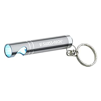 Swiss+Tech ST50129 3 LED Pocket Flashlight with Bottle Opener for Keychain, Silver by Swiss+Tech