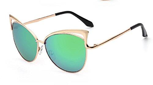 YABINA Sexy Cateye Women Sunglasses Oversized Metal Frame Flat Mirrored Lens - Styles New Eyeglasses