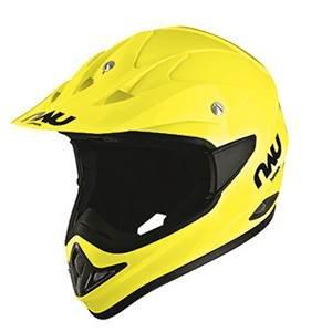 Nau N45 XT45-Casco de motocross, color amarillo fluorescente, talla: XS