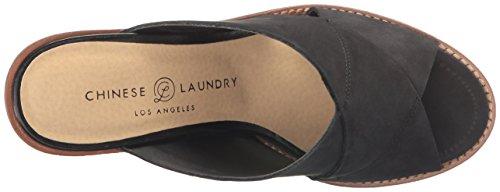 Black Slide Crissa Chinese Leather Sandal Women's Laundry cZqtUW68